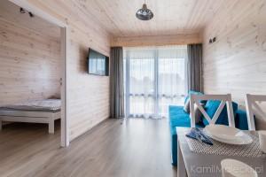 Apartament w domku drewnianym_salon
